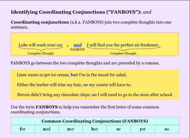 coordinating conjunctions essay Making title capitalization easy automatically capitalize your email subjects, essay, headline, and article titles use title case, ap style, apa style, chicago style, mla style, and more.